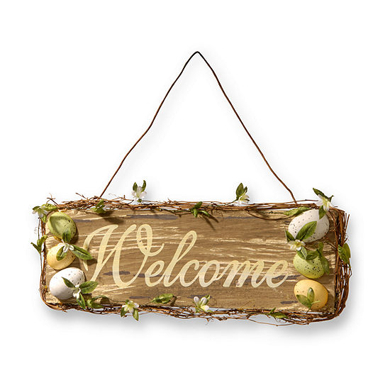 """National Tree Co. 21"""" Home Decor """"Welcome"""" Sign Wall Sign"""