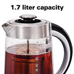 Hamilton Beach® Glass Electric Kettle With Tea Steeper
