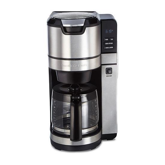 Hamilton Beach® Grind & Brew 12 Cup Programmable Coffeemaker