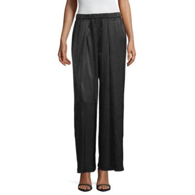 Worthington Womens Wide Leg Pull-On Pants