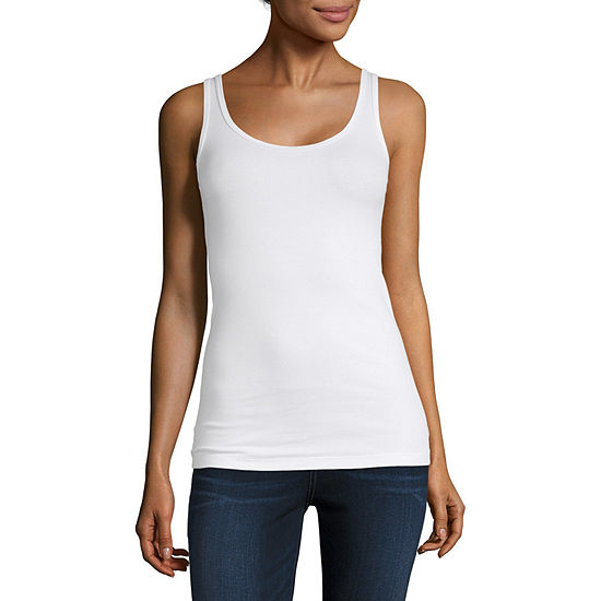 a.n.a Womens Round Neck Sleeveless Tank Top