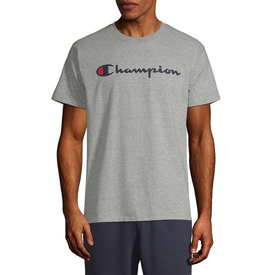 Champion Mens Crew Neck Short Sleeve Logo Graphic T-Shirt