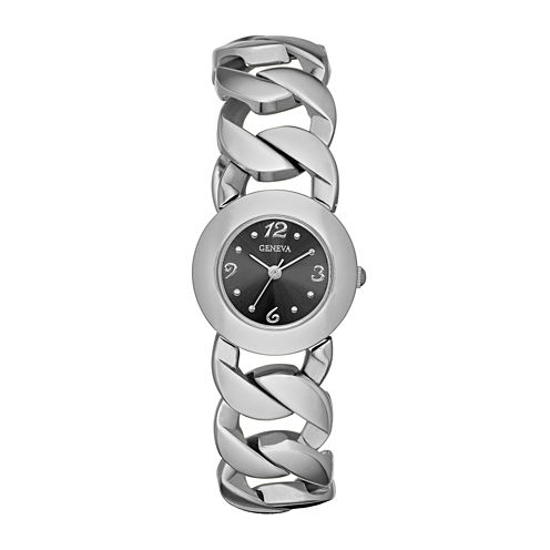 Womens Open Link Bracelet Watch