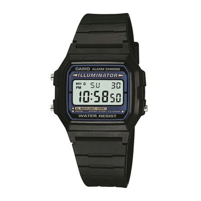 Casio® Illuminator Mens Square Black Resin Strap Digital Sport Watch F105W-1OS