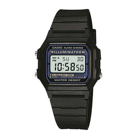 F105w Strap Sport Mens Casio® Black Resin Digital 1os Watch Illuminator Square Scq34Aj5RL