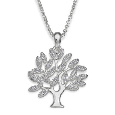 Sparkle Allure™ Cubic Zirconia Family Tree Pendant Necklace