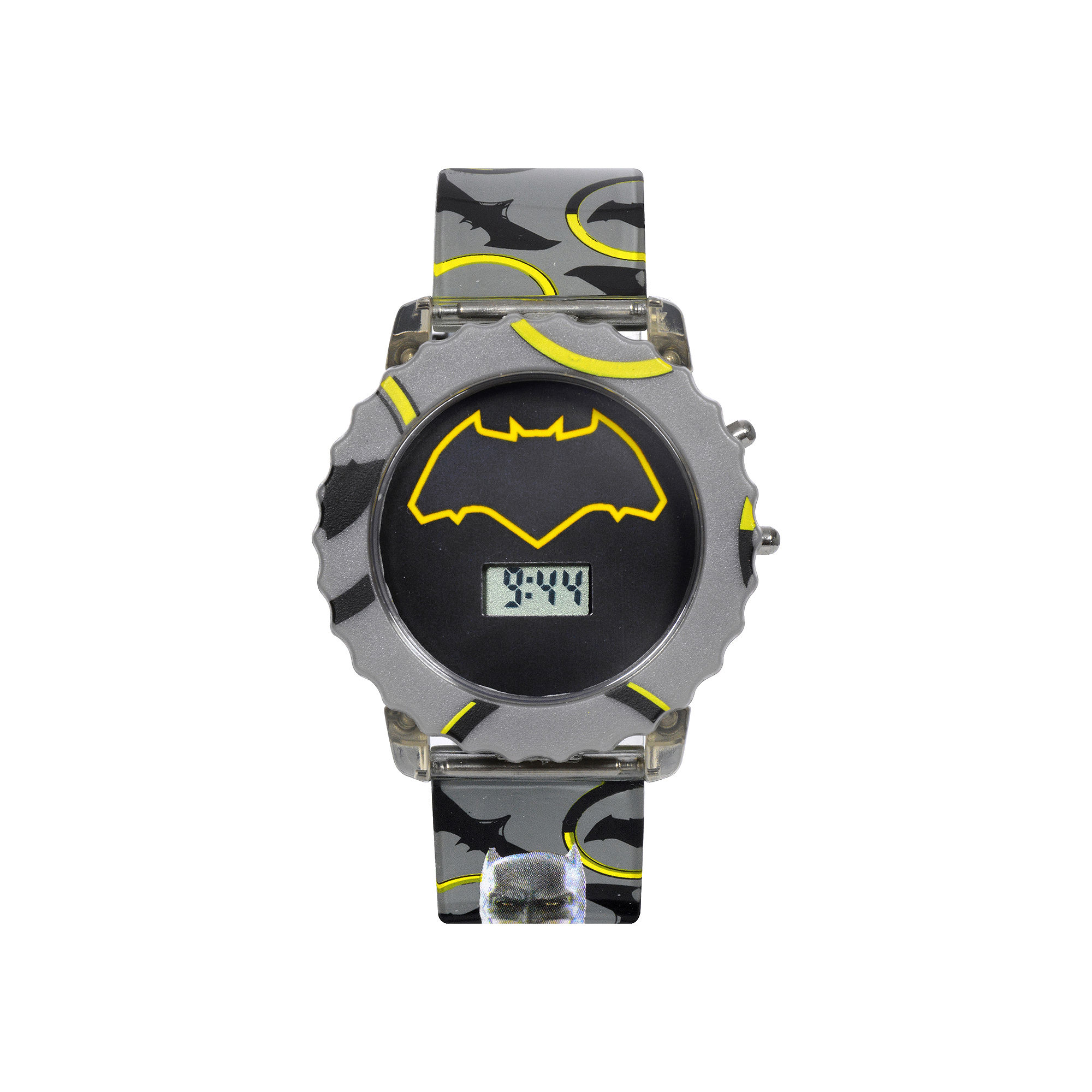 DC Comics Batman vs. Superman LCD Rotating Flash Dial with Batman Strap Watch