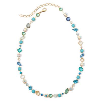 Vieste® Blue Stones Gold-Tone Necklace