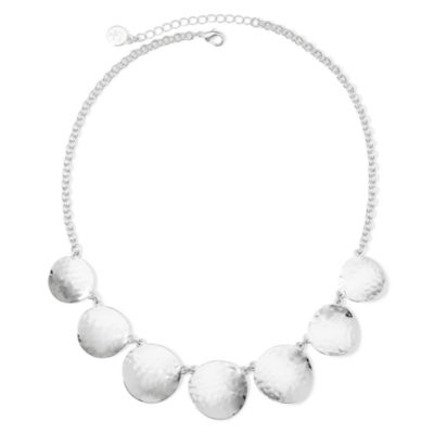 Liz Claiborne® Silver-Tone Collar Necklace