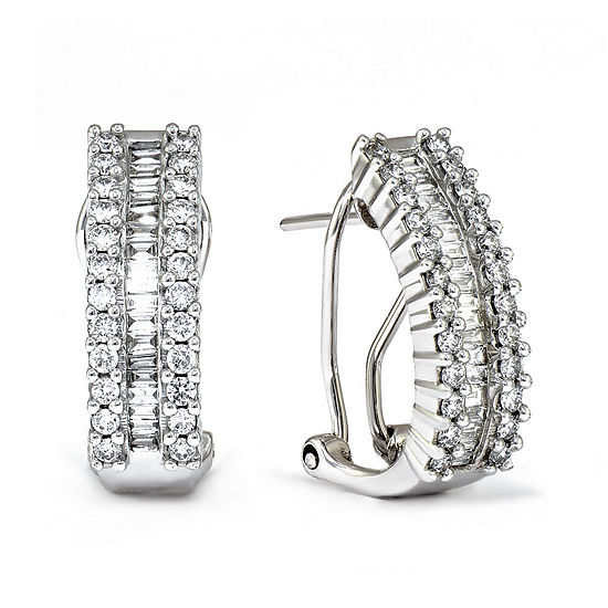 LIMITED QUANTITIES 1 CT. T.W. Diamond 14K White Gold Earrings