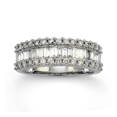 LIMITED QUANTITIES 1 CT. T.W. Diamond 14K White Gold Wedding Band