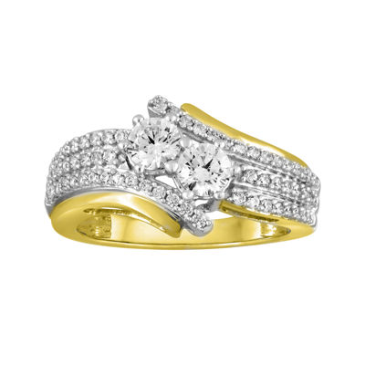 Two Forever™ 1 C.T. TW. Diamond 10K Yellow Gold Engagement Ring