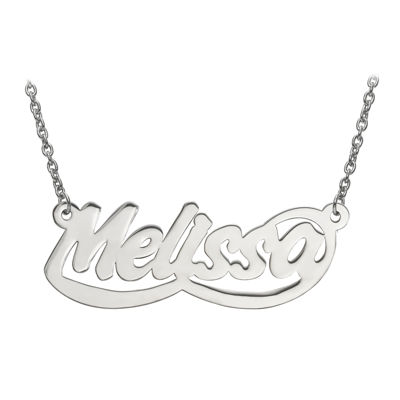Personalized 14x39mm Aktuelle Font Name Necklace