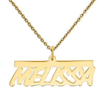 Personalized 17x34mm Aktuelle Font Name Necklace