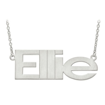Personalized 53x19mm Arial Font Name Necklace