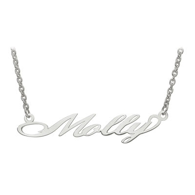 Personalized 9x46mm Surrey Script Font Name Necklace