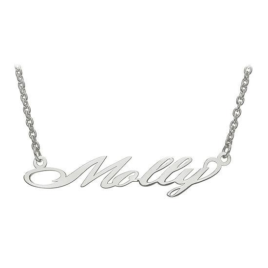 Personalized 9x46mm Surrey Script Font Name Necklace