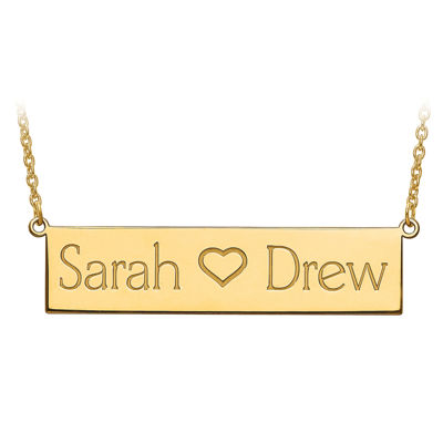 Personalized 12x56mm  Name Plate Necklace