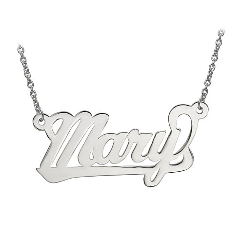 Personalized 15x29mm Aktuelle Font Name Necklace