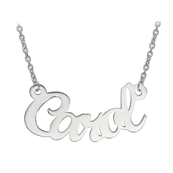 Personalized 14x30mm Curved Aktuelle Font Name Necklace