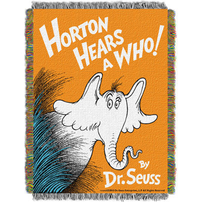 Dr. Seuss Horton Hears A Who Tapestry Throw