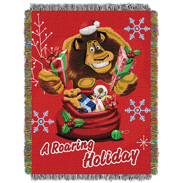 Dreamworks Madagascar Holiday Tapestry Throw