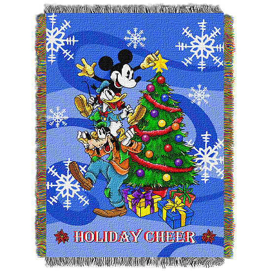 Mickey Mouse Holiday Tapestry Throw