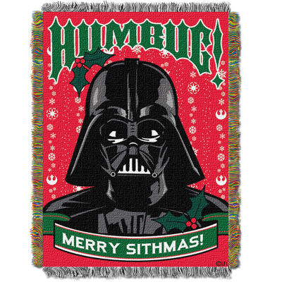 Star Wars Darth Vader Holiday Tapestry Throw