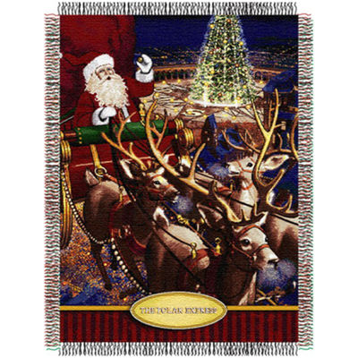 Santa's Flight Tapestry Throw