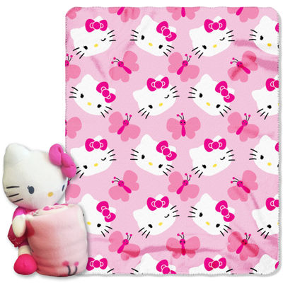 Hello Kitty Throw and Pillow Set