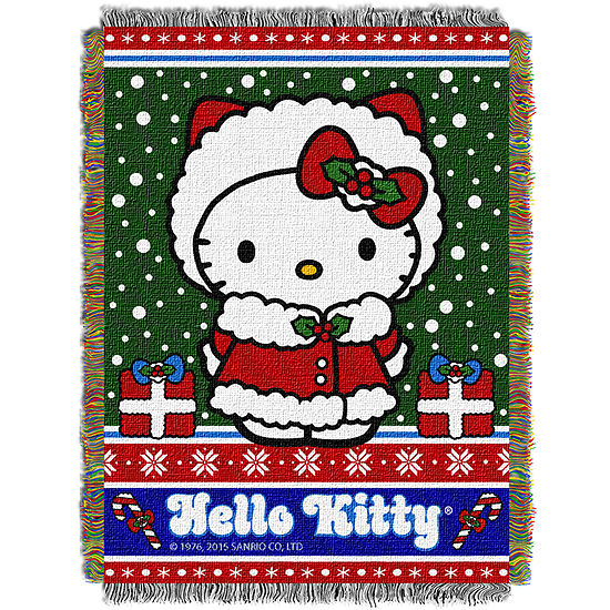 Hello Kitty Holiday Tapestry Throw