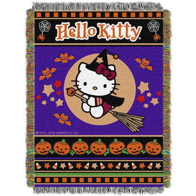 Hello Kitty Witchy Kitty Tapestry Throw
