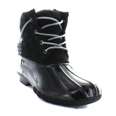 Seven 7 Womens Goose Rain Boots Slip Resistant Flat Heel Lace-up
