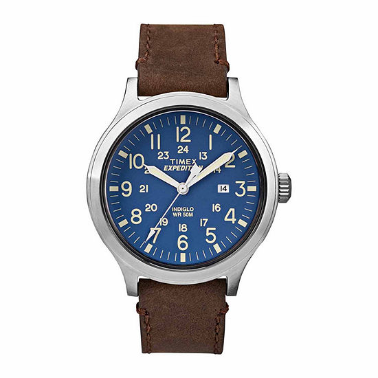 Timex 100 Mens Brown Strap Watch Tw4b064009j