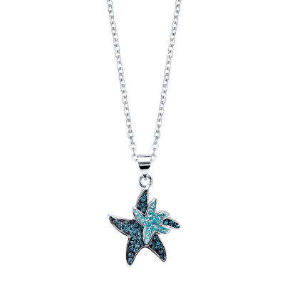 Sparkle Allure Womens Multi Color Pendant Necklace