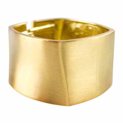 Gold-Tone Square Hinged Bracelet
