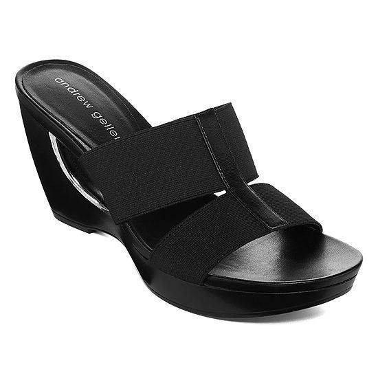 Andrew Geller Womens Abradie Wedge Sandals