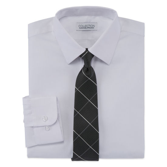 Collection By Michael Strahan Boys Long Sleeve Shirt + Tie Set -8-20-Reg and Husky