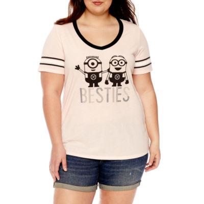 """Minions """"Besties"""" Graphic T-Shirt- Juniors Plus"""