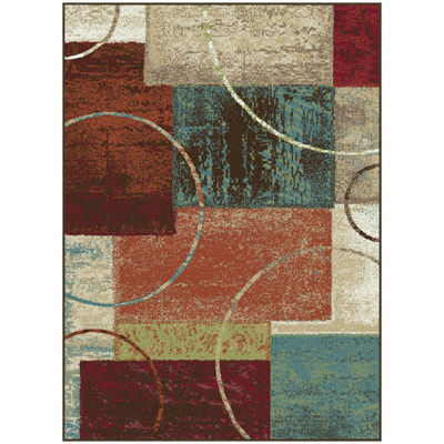 Tayse Deco Conner Rectangular Indoor Area Rug