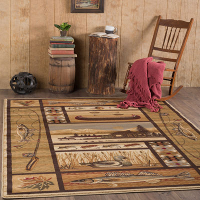 Tayse Nature Lodge Retreat Rectangular Rug