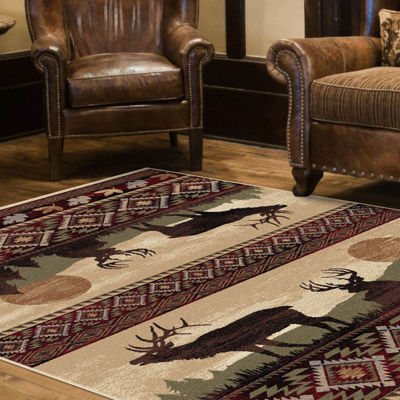 Tayse Nature Misty Elk Rectangular Rug