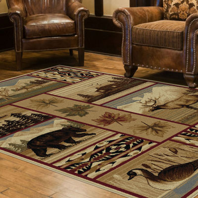 Tayse Nature Scenic Wildlife Rectangle Rugs