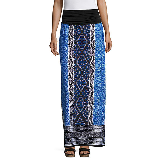 Alyx Womens Midi A-Line Skirt-Petite