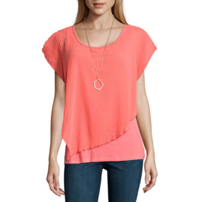 Alyx Short Sleeve Round Neck Chiffon Blouse
