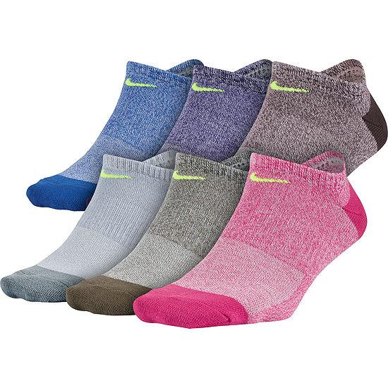 Nike 6 Pack No-Show Socks - Womens