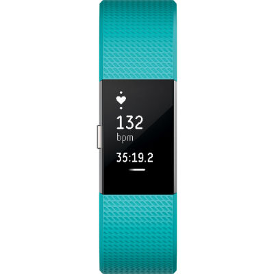 Fitbit Charge 2 Heart Rate and Activity Tracker - Teal