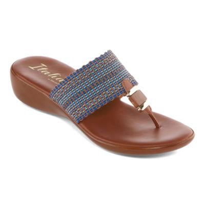 Italiana By Italian Shoemakers Vee Womens Wedge Sandals