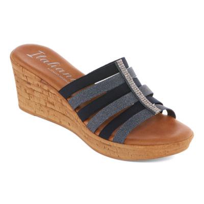 Italiana By Italian Shoemakers Fiona Womens Slide Sandals