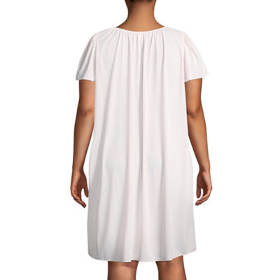 Collette By Miss Elaine Short Sleeve Nightgown - Plus
